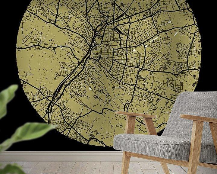 Beispiel fototapete: Bielefeld – City Map Design Stadtplan Karte (Grunge) von ViaMapia