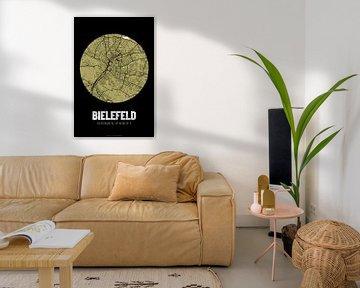 Bielefeld - Stadsplattegrondontwerp Stadsplattegrond (Grunge) van ViaMapia