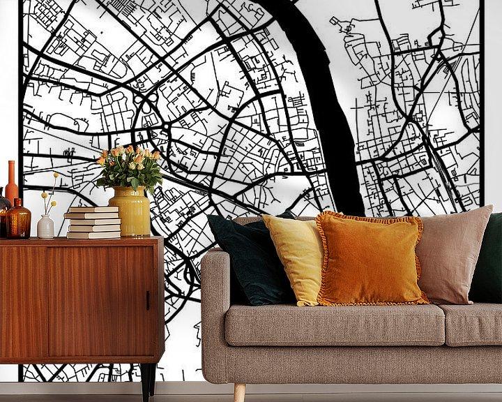 Beispiel fototapete: Bonn – City Map Design Stadtplan Karte (Retro) von ViaMapia