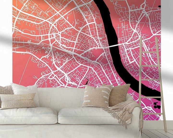 Beispiel fototapete: Bonn – City Map Design Stadtplan Karte (Farbverlauf) von ViaMapia
