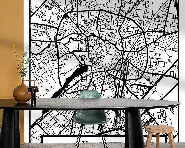 Beispiel fototapete: Münster – City Map Design Stadtplan Karte (Retro) von ViaMapia
