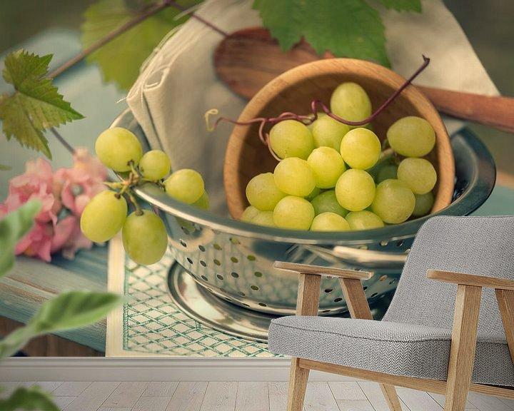 Beispiel fototapete: Frische Weiße Weintrauben im Stil von Tanja Riedel