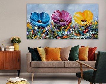 Farbenfrohe Blumen von Gena Theheartofart