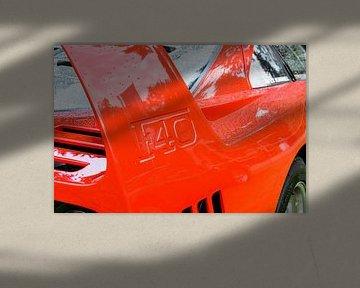 Ferrari F40 supercar van de achterspoiler uit de jaren tachtig van de vorige eeuw. van Sjoerd van der Wal