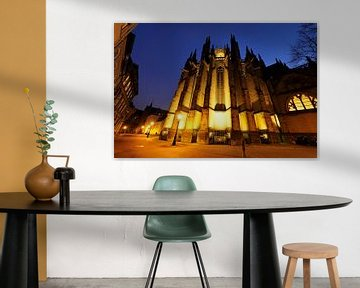 De achterzijde van de Domkerk in Utrecht von Donker Utrecht