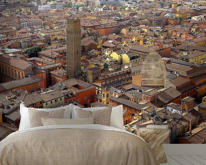 Sfeerimpressie behang: Stadsaanzicht Bologna van Patrick Lohmüller