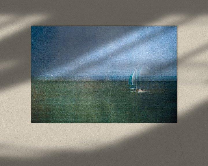 Impression: Bateau à voile sur la mer des Wadden sur Greetje van Son