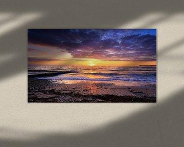Zonsondergang Villerville Frankrijk van Stefan Vis