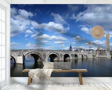 Sint Servaas brug Maastricht, kleur van Pascal Lemlijn