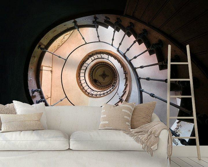 Beispiel fototapete: Verlassene Wendeltreppe in Decay. von Roman Robroek