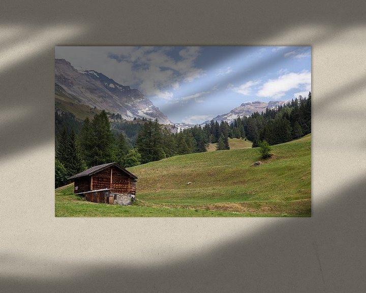 Beispiel: Schweizer Alpenlandschaft von Sander de Jong