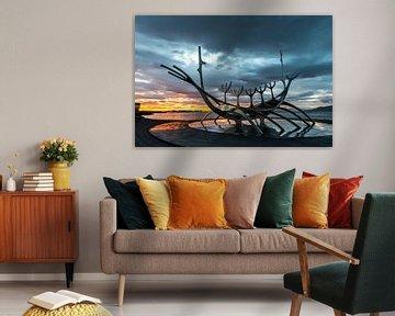 Solfar, een beroemd IJslands kunstwerk.