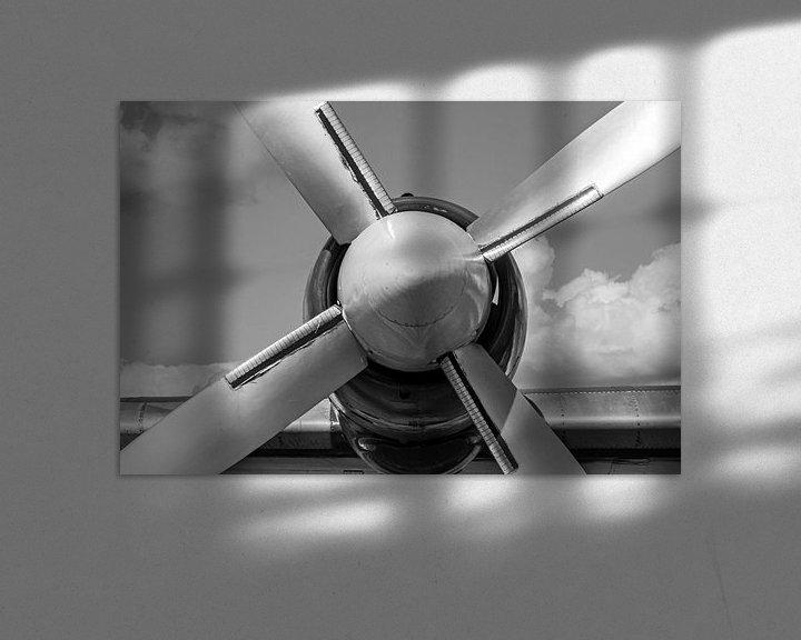 Beispiel: Flugzeugpropeller schwarz-weiß. von Anjo ten Kate