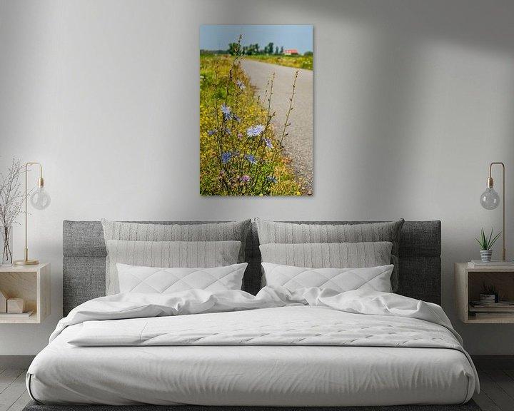 Beispiel: Chicorée entlang einer Landstraße von Frans Blok