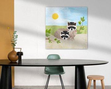 Wasbeertjes in de zon van Karin van der Vegt