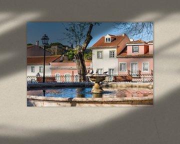 Brunnen in der Altstadt von Lissabon von Werner Dieterich