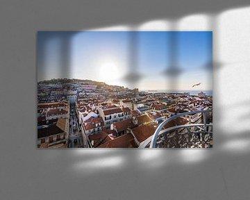 Gezicht op Lissabon van Werner Dieterich