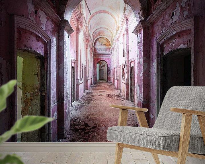 Beispiel fototapete: Verlassener Korridor im Zerfall. von Roman Robroek