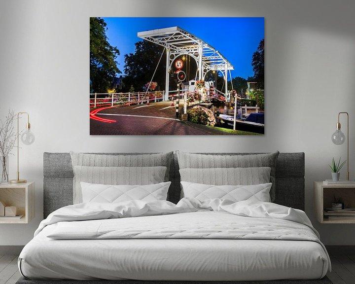 Sfeerimpressie: Ophaalbrug in Vreeland van Jan van Dasler