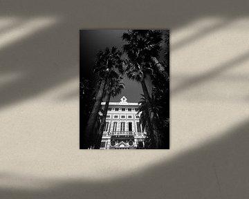 Alte Villa, Italien (Schwarz-Weiß) von Rob Blok