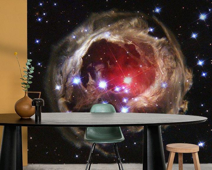 Sfeerimpressie behang: Space Nebula photo made with Hubble van Brian Morgan