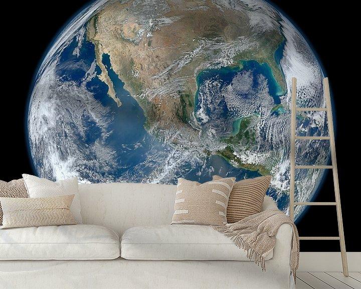 Sfeerimpressie behang: Aarde door Hubble van Brian Morgan