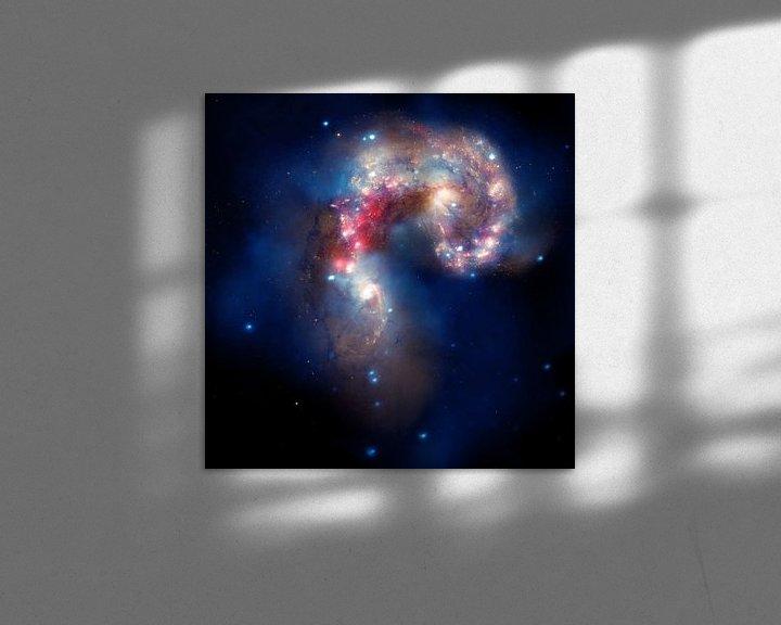 Sfeerimpressie: Hubble Photo of Space nebula van Brian Morgan