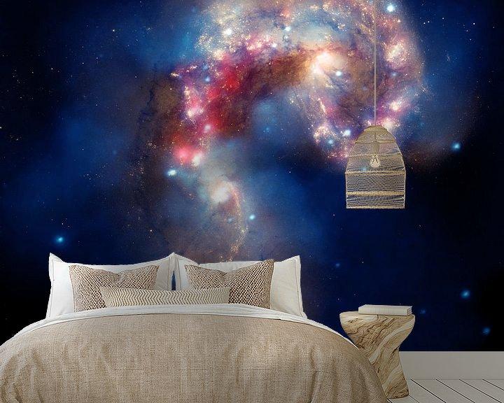 Sfeerimpressie behang: Hubble Photo of Space nebula van Brian Morgan