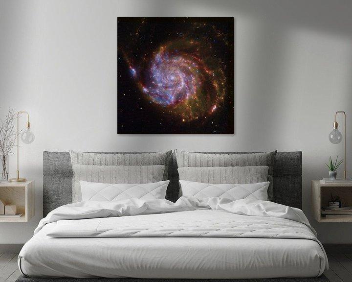 Sfeerimpressie: Hubble foto van een sterrenstelsel van Brian Morgan