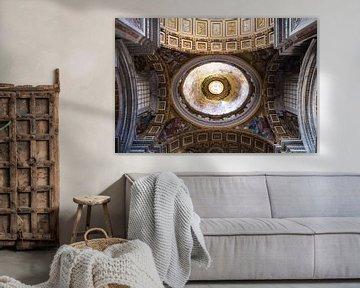 Das Dach von St. Peter's im Staat der Vatikanstadt