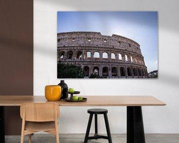 Colosseum in Rome bij tegenlicht van Sander de Jong