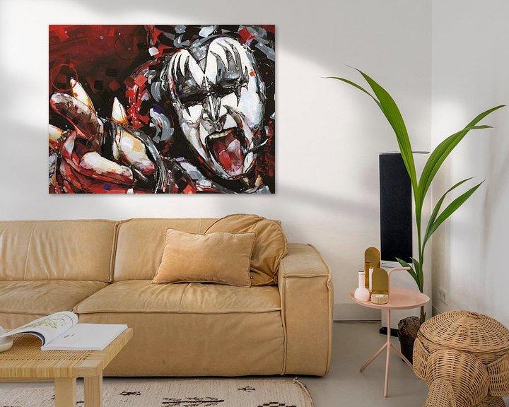 Sfeerimpressie: KISS, Gene Simmons kunst van Jos Hoppenbrouwers