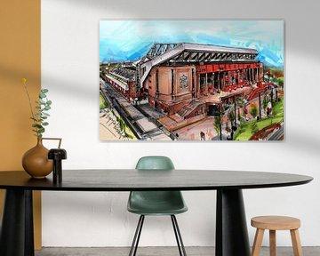 Anfield malerei von Jos Hoppenbrouwers