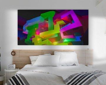 LA Tez One 5 #3 von Pat Bloom - Moderne 3D, abstracte kubistische en futurisme kunst