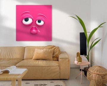 Lustiges Gesicht pink von Jörg Hausmann