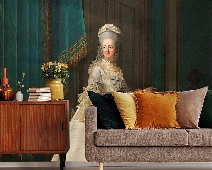 Beispiel fototapete: Königin Witwe Juliane Marie, Vigilius Eriksen