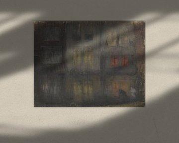 Nocturne: Schwarzer und Roter-Rücken-Kanal, Holland, James Abbott McNeill Whistler