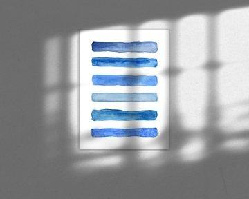 Stripe dessous / Feeling blue series 1 of 4 sur Natalie Bruns