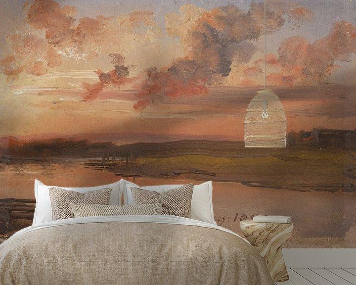 Beispiel fototapete: Die Elbe am Abend, Johan Christian Dahl