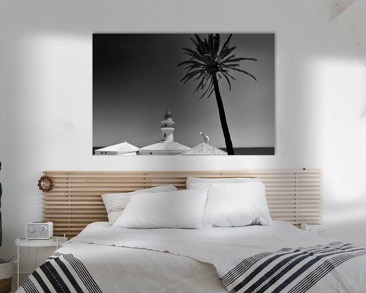 Beispiel: Leuchtturm, Mittelmeerküste (Schwarz-Weiß) von Rob Blok
