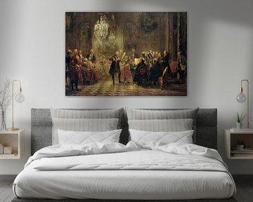 Friedrich der Große spielt Flöte in Sanssouci, Adolph Menzel