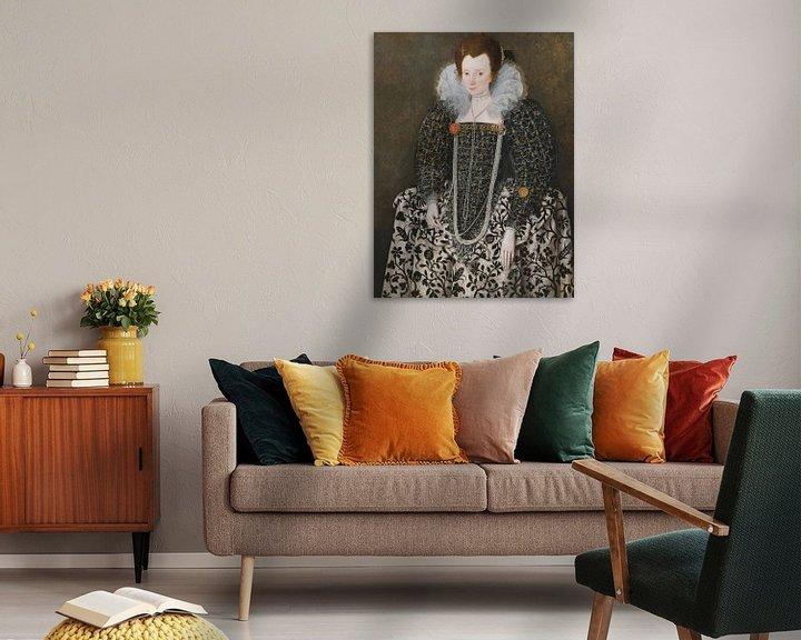 Beispiel: Porträt von Mary Clopton, Robert Peake der Ältere