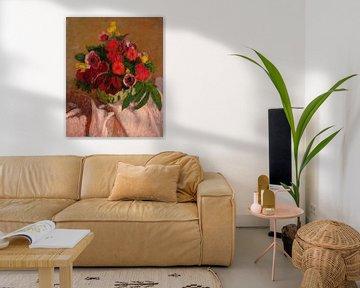 Gemischte Blumen auf rosa Stoff, Roderic O'Conor