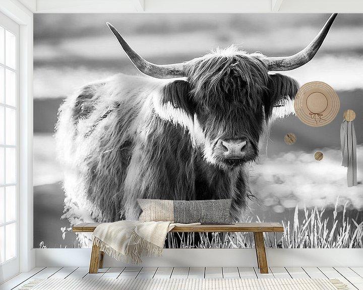 Beispiel fototapete: Porträt eines schottischen Highlander von Evelien Oerlemans