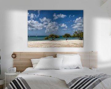 Strand tropisch op Aruba van Marly De Kok