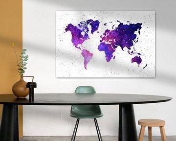 Wereldkaart Melkwegstelsel van Ms Sanderz