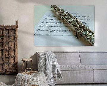 Flöte und Noten von Gert Hilbink