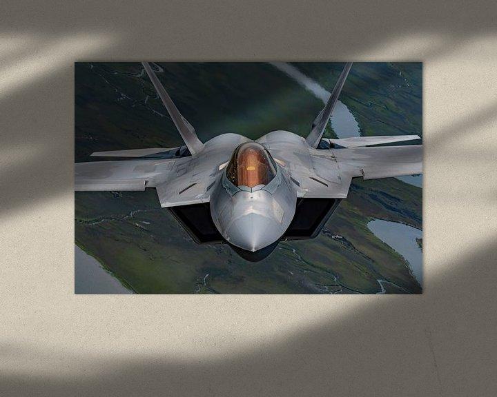 Sfeerimpressie: F-22 Raptor U.S. Air Force Straaljager van Atelier Liesjes