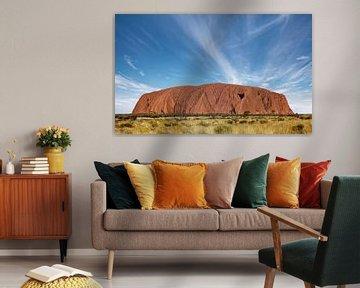 Uluru. Anciennement Ayer's Rock. Est une grande formation rocheuse de grès dans le parc national d'U sur Tjeerd Kruse