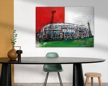 Stadion Feijenoord, de Kuip von Jos Hoppenbrouwers